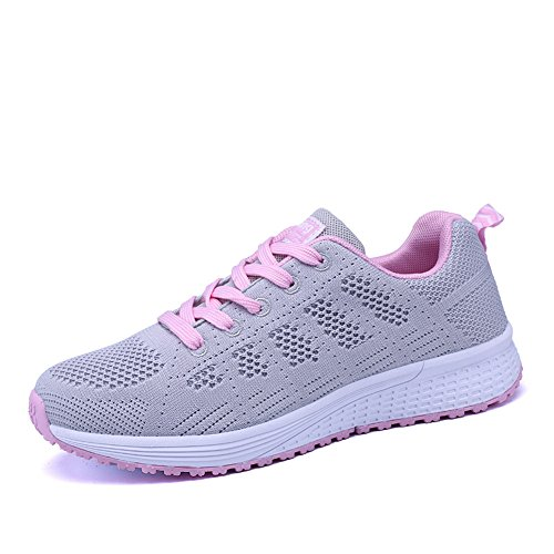 Women's Running Shoes Tennis Athletic Jogging Sport Walking Sneakers Gym Fitness Grey 40