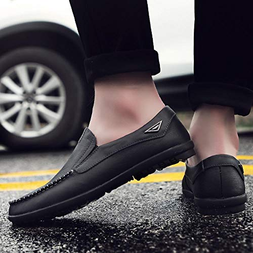 LuckyGirls Zapatos Cuero para Hombre Zapatillas de Casual Calzado de Planos Transpirables Informales Bambas para Perezoso Náuticos Mocasines: Amazon.es: ...