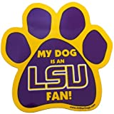 All Star Dogs NCAA LSU Fighting Tigers Paw Print Car Magnet