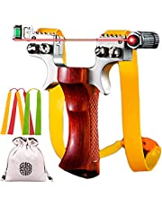 Svyaxfa Slingshot Alloy Heavy Professional Slingshots Set for Adult Hunting Powerful Stainless Steel Handle High Velocity Catapult Slingshots