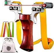 Slingshot Alloy Heavy Slingshot Laser Slingshot Adult Professional Hunting Slingshot High Speed Catapult Sling