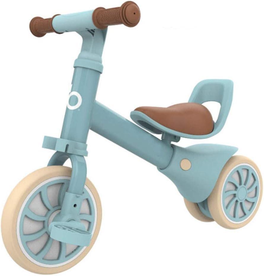 MQYZS Bicicleta Sin Pedales Ultraligera,Bicicleta sin Pedales para niños y niñas | Bici 12 Pulgadas a Partir de 2-4 años con Freno,Azul