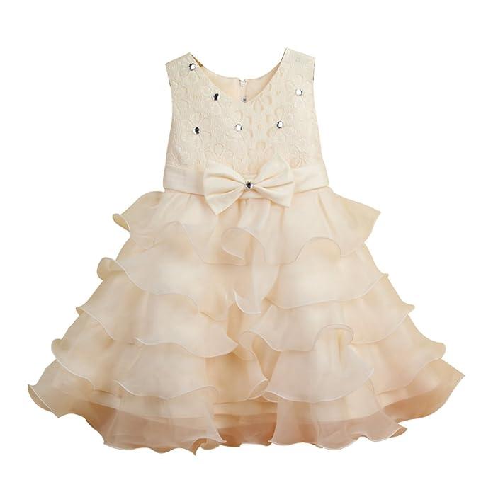 ZAMME Banquete de boda de la princesa del arco vestido de tul de novia de las niñas: Amazon.es: Ropa y accesorios