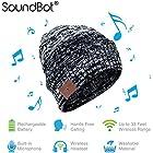 SoundBot WEAVE HD Stereo Bluetooth 4.1 Wireless Smart Beanie Headset Musical Knit Headphone Speaker Hat Speakerphone Cap w/ 5Hrs Music Streaming & 7Hrs Hands-Free Talking, 60Hrs Standby, Built-in Mic