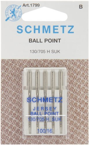 SCHMETZ Jersey  Sewing Machine Needles - Carded - Size 100/1