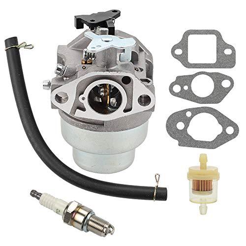 Wellsking GCV160 Carburetor for Honda HRT216 HRR216 GCV160a GCV160LA HRB216 HRS216 HRZ216 Carb Lawn Mower Rep 16100-Z0L-023 with Spark Plug