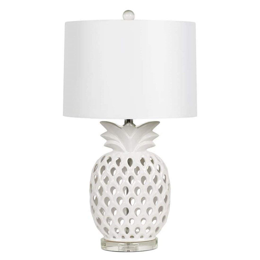 Nordic Simple Modern Creative Art E27 White Pineapple Ceramic Hollow Read Gifts Living Room Study Hotel Café Bedroom Bedside Lamp 16.5 69 Protect Eyes by Gal