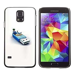 Memoria Usb Sistema Pingüino Pc Informática- Metal de aluminio y de plástico duro Caja del teléfono - Negro - Samsung Galaxy S5