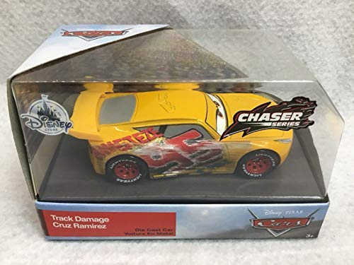 Pixar Disney Cars 1:43 Scale die-cast Track Damage Cruz Ramirez