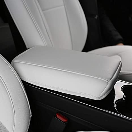 Tesla Model 3 Center Console Cover Armrest Pad (White)