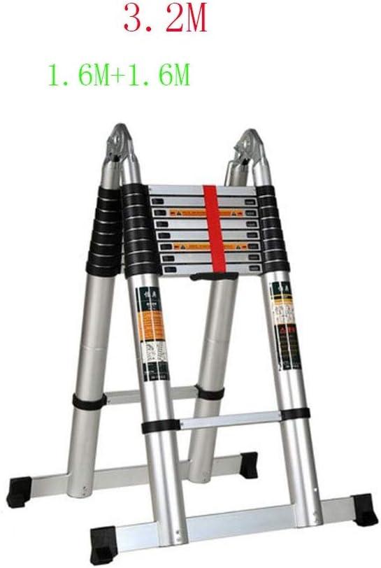GTRR Elevación de aleación de Aluminio Escalera de Espiga Escalera de extensión portátil para el hogar Ingeniería Multifuncional Escalera Plegable Aluminio de aviación (Size : 7.2M): Amazon.es: Hogar
