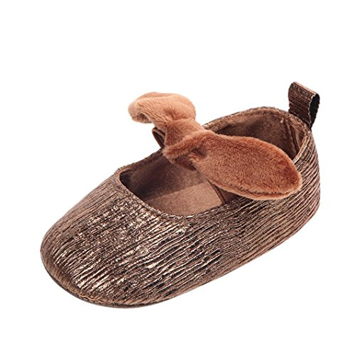 Amazon.com | Voberry@ Baby Girl Shoes Bowknot Elastic Band Soft Sole Anti-Slip Crib Newborn Mary Jane Flats White | Clogs & Mules