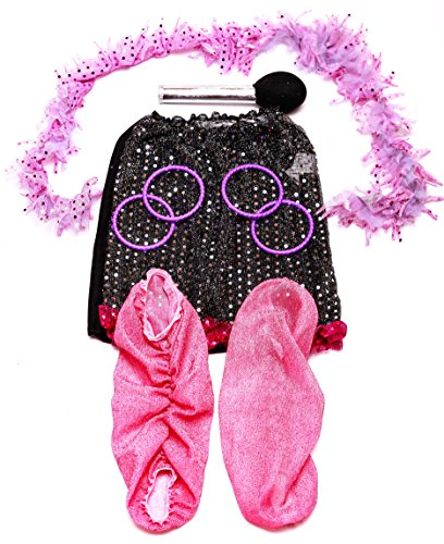 Girls Dress Up Set: Princess, Ballerina, Pop Diva, Bride, Fairy costumes for pretend play