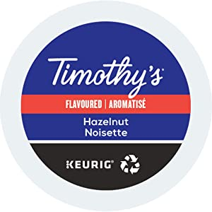 Timothy's World Coffee, Noisette, Hazelnut-Flavored Coffee, K-Cup Portion Pack for Keurig K-Cup Brewers, 24-Count (Pack of 2)