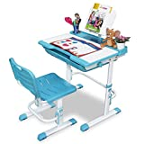 Alex Daisy Pluto Kids Height Adjustable Study Table & Chair Set - Blue