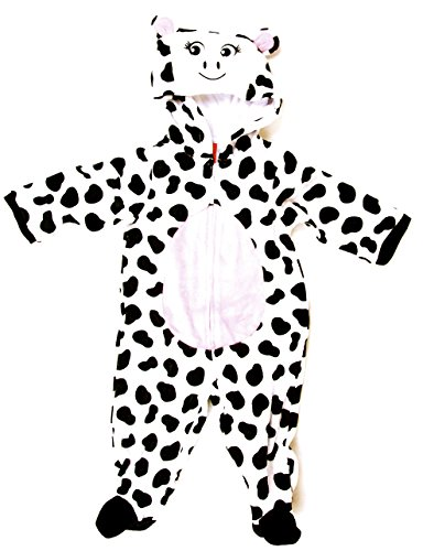 'Cuddly Cow' Hooded Body Suit Costume, Unisex (12) (Cow Costume Infant)