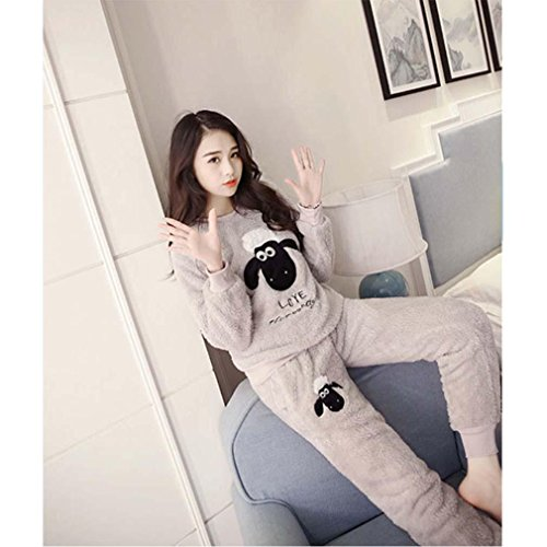 Winter Luxury Pajamas Velvet Women Shuipao Pajamas Warm And Comfortable Home Service Cozy Flannel Pajama Set , m , C by moxin (Image #1)