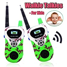 Kids Walkie Talkies 2 Pack Two Way Radio Range Handheld Mini Portable Walkie Talkies Spy Gear Pretend Play Toys Parent-Child Interaction Games Novelty Gifts as Thanksgiving Birthday for Boys Girls