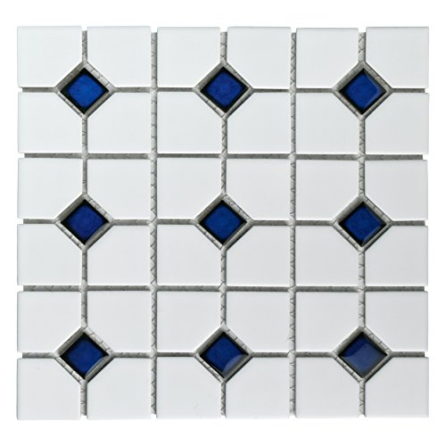 (SomerTile FKOOX604 Newcastle Porcelain Floor and Wall Tile, 11.5