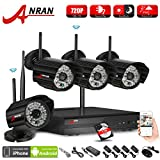 Cheap ANRAN 4CH 720P WIFI NVR HD Home Security System with 4 Indoor Outdoor Weatherproof Superior Night Vision HD 720P IP Network Cameras System 1TB Hard Drive
