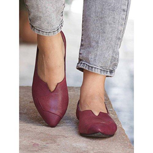 Lovely Mujer Zapatos Planos Punta Puntiaguda Primavera Verano Otoño  Mocasines Calzado de Trabajo Pumps Comodidad Faux 12ad213e3bc0
