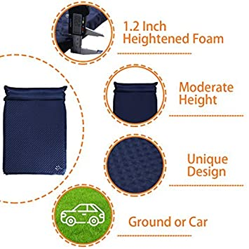 FRUITEAM Sleeping pad Double self Inflating Camping pad Large for 2 Person air Mattress with Pillow
