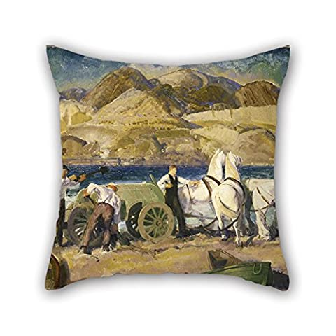 Slimmingpiggy Oil Painting George Wesley Bellows - The Sand Cart Throw Cushion Covers 16 X 16 Inches / 40 By 40 Cm Best Choice For Pub Festival Car Seat Floor Lounge Boy Friend With Twice - Mustang Bellows