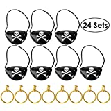 Unomor Pirate Eye Patches with Earring for
