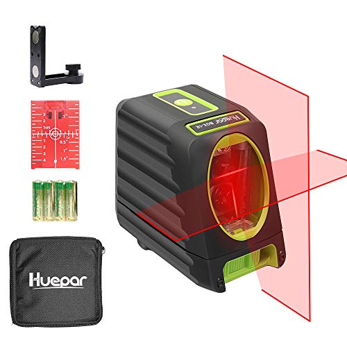 Huepar Self-Leveling Laser Level 150ft/45m Outdoor Cross Line Laser, Selectable Laser Lines with Pulse Mode,Level with Vertical Beam Spread Covers of 150°,360°Magnetic Base and Battery Included-BOX-1R