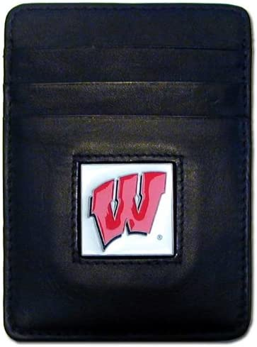 Siskiyou Wisconsin Badgers Bi-fold Leather Wallet