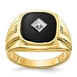 14k Yellow Gold Diamond Mens Band Ring Size 10.00 Man Fine Jewelry Dad Mens Gift Set