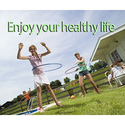 Fitness Exercise Hula Hoop 2 Pound Weighted Hula Hoop and Simply the Funnest Way to Lose Weight Easy to Use Exercise Hoop Fun Easy Way to Workout(In the United States shipped)