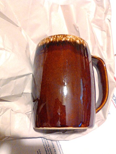 (Vintage Hull Brown Drip Tall Mug)