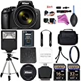 Nikon COOLPIX P900 Digital Camera with 83x Optical Zoom and Built-In Wi-Fi (Black) + 48GB Starter Bundle. Includes 2X Memory Cards + UV Filter + Tripod + Case DigitalAndMore Free Deluxe Accessory Kit
