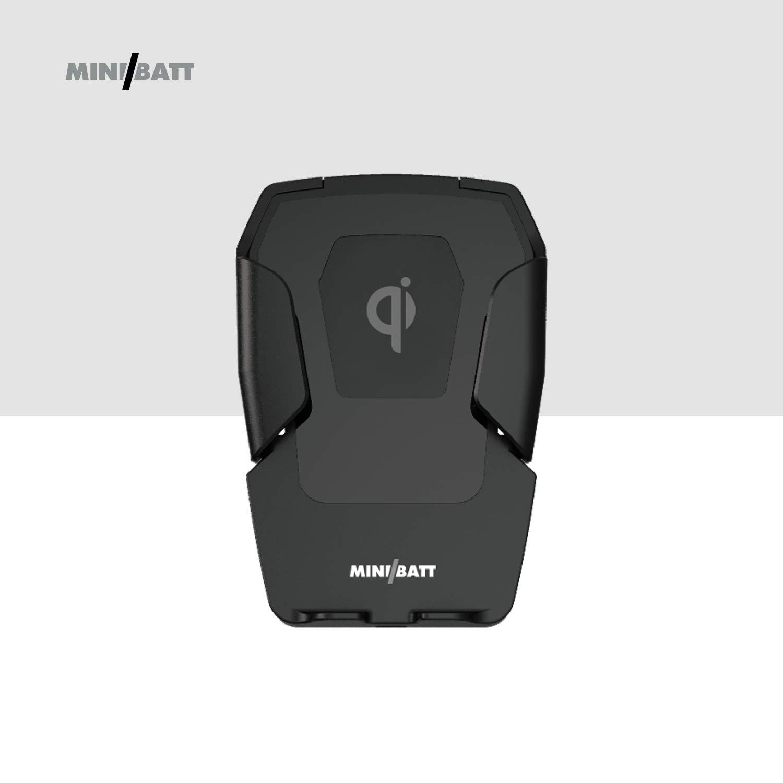Minibatt MB-PHBOX, Cargador Inalámbrico para Coche con QI, Negro ...