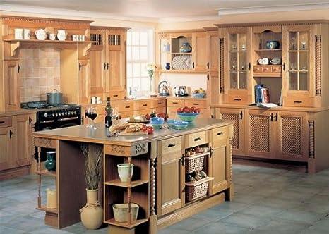 Dakota Country Oak Kitchen porte e accessori, Legno, White, 895 x ...