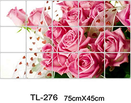 Kitchen Aluminum Foil Waterproof Decorative Tile Stickers Home Decor Kitchen Accessories Wall Stickers tl276