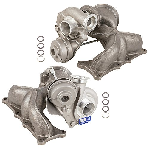 Bmw Turbo Kit (New Pair Turbo Kit With Turbocharger Gaskets For BMW 1M 135i 335i & Z4 - BuyAutoParts 40-80347IK New)