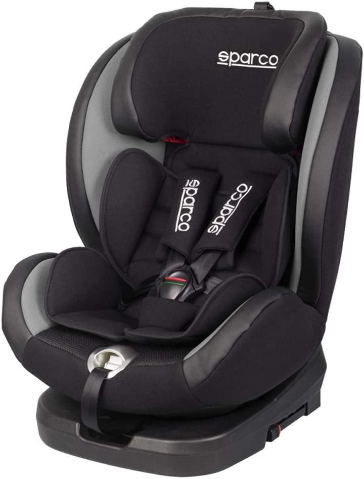 Sparco Sk600i Gr Gr Schwenkbare Kindersitz Sk600i Isofix Schwarz Grau 0 Bis 36 Kg 0 Bis 12 Jahr E8 R44 Auto