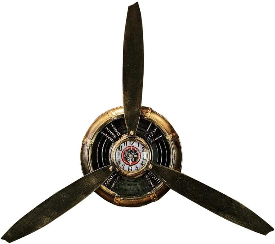 Metal Airplane Propeller Wall Decor,Vintage Aviation Wall Art, Industrial Style Home Decor for Living Room Bed Room Bar and Cafe,65658cm