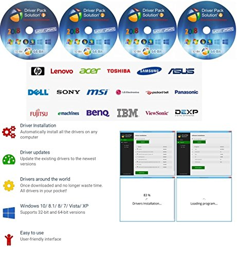 Driver Pack Solution [4 DVD]- 2018 Install for Toshiba Laptops