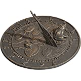 Whitehall Outdoor Sundial Frogs French Bronze