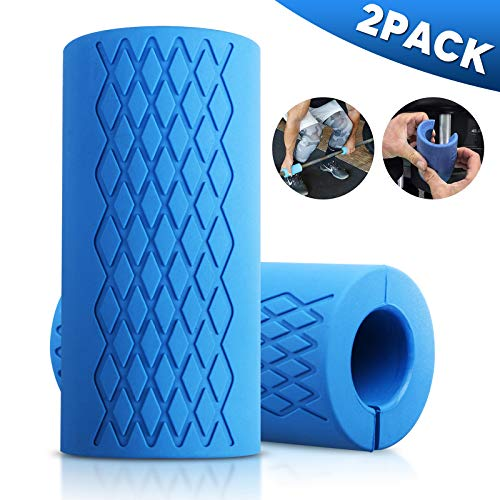 Jestar Thick Bar Grips Dumbbell Grips 2 Packs Thick Bar Barbell Grips for Gym Weightlifting Fat Bar Training Dumbbell Handles Ergonomic Non-Slip Silicone Rubber