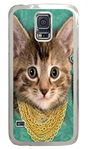 Bad Attitude Kitten Polycarbonate Hard Case Cover for Samsung S5/Samsung Galaxy S5 Transparent