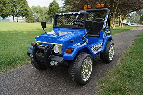 S618f Small Blue Jeep Wrangler Ride On Car For Kids 2 7 Years Old