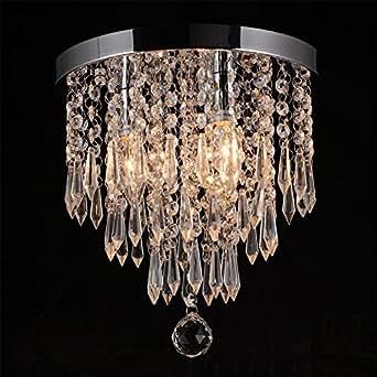 Hile lighting ku300107 crystal chandeliers flush mount ceiling light close to ceiling lights aloadofball Gallery