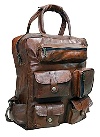 Amazon.com   Leather Backpack Brown Rucksack Handmade