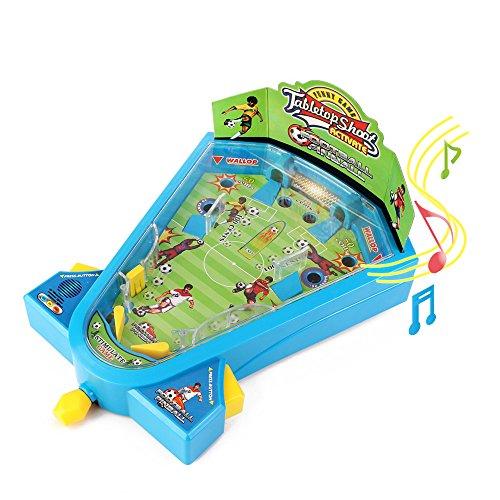 Elektronische Lichter Murmel Spiele Fußball Spielzeug Mini Tischfußball Schießspielzeug mit Musik für Kinder von Wishtime