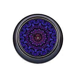 engree 14inch Large Silent Non Ticking Wall Decor Clock Large Colorful Funny Beautiful Kaleidoscope Metal Large Wall Clock Office Quality Quartz Battery Quiet Round Clock Wall Decor for Home Office