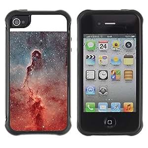 Paccase / Suave TPU GEL Caso Carcasa de Protección Funda para - Universe Pillar Stars Nebulae Red Cosmos - Apple Iphone 4 / 4S